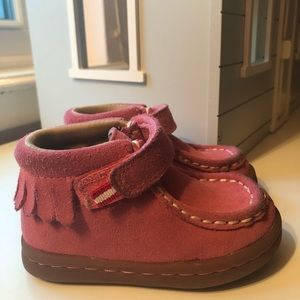 Hanna Andersson Haskell Pink Suede Chukka Boots
